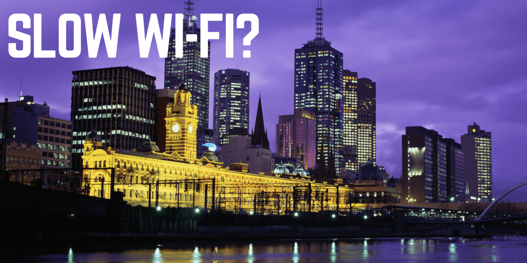 Melbourne CBD Slow unsecured Wi-Fi